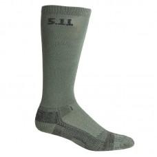"""Носки тактические средней плотности """"5.11 Tactical Level I 9"""" Sock - Regular Thickness"""" Olive"""