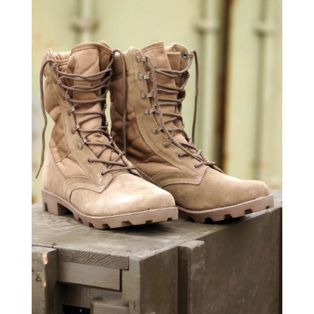 Мужские военные тропические ботинки со вставками Coyote