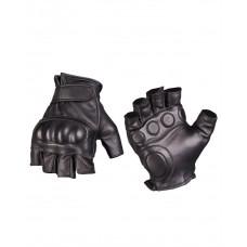 Перчатки тактические кожаные без пальцев с демпфером