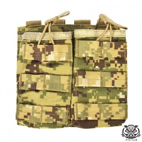 """Подсумок открытый для двух магазинов АК/М16 MOLLE """"RMBP"""" (Rifle Mag`s Bunji Pouch) A-TACS-FG"""