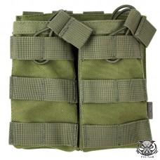"""Подсумок открытый для двух магазинов АК/М16 MOLLE """"RMBP"""" (Rifle Mag`s Bunji Pouch)"""