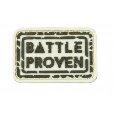 """Шеврон резиновый на липучке P1G-Tac """"Battle proven"""""""