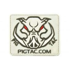 """Шеврон резиновый на липучке P1G-Tac """"P1G logo"""""""