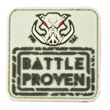 """Шеврон резиновый на липучке P1G-Tac """"P1G logo/Battle proven"""""""