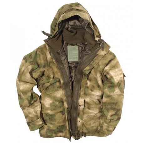 Куртка непромокаемая с флисовой подстёжкой Mil-Tec MIL-TACS-FG