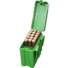 Коробка MTM на 20 патронов кал. 222 Rem - 222 Mag. Цвет - зеленый