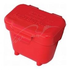 Коробка MTM Ammo Belt Pouch для патронов кал. 22 LR; 22 WMR и 17 HMR с креплением на пояс. Цвет – красный.