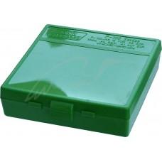 Коробка для патронов MTM кал. 45 ACP; 10мм Auto; 40 S&W. Количество - 100 шт. Цвет - зеленый