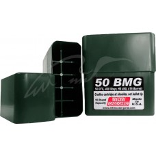 Коробка MTM 50 BMG Slip-Top на 10 патронов кал. 50 BMG. Цвет - темно-зеленый