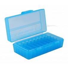 Коробка для патронов MTM кал. 9мм; 380 ACP. Количество - 50 шт. Цвет - голубой