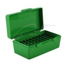 Коробка для патронов MTM кал. 7,62x25; 5,7x28; 357 Mag. Количество - 50 шт. Цвет - зеленый