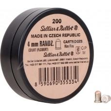Патрон Флобера Sellier & Bellot Randz Curte кал. 4 mm short пуля - свинцовый шарик плакированный медью. Упаковка 200 шт.
