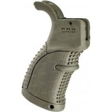Рукоятка пистолетная FAB Defense AGR-43 прорезиненная для M4/M16/AR15. Цвет - оливковый