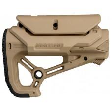 Приклад FAB Defense GL-CORE S CP с регулиреумой щекой без трубы. Цвет - песочный