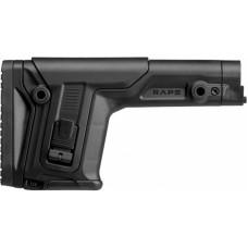 Приклад FAB Defense RAPS с регулиреумой щекой и затыльником без трубы. Цвет - черный