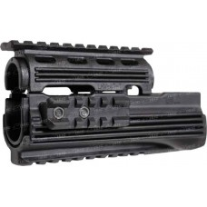 Цевье LHB LHV47 для AK 47/74 с 4 планками Weaver/Picatinny. Материал - пластик. Цвет - черный