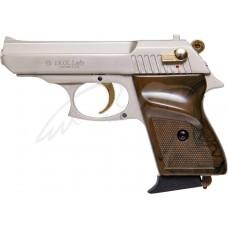 Пистолет стартовый EKOL LADY кал. 9мм. Цвет - белый сатин с позолотой