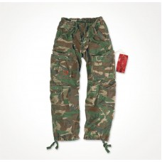 """Брюки """"SURPLUS AIRBORNE VINTAGE TROUSERS"""" Washed Woodland"""
