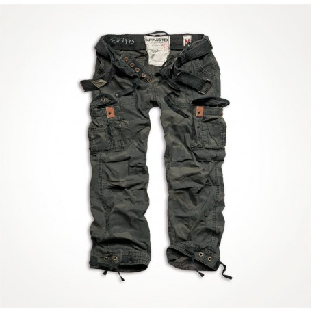 "Винтажные военные брюки ""SURPLUS PREMIUM VINTAGE TROUSERS"" Washed black camo"