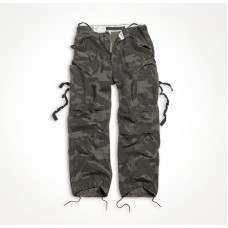 "Винтажные брюки ""SURPLUS VINTAGE FATIGUES TROUSERS"" Washed black camo"