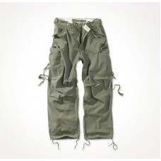 "Винтажные брюки ""SURPLUS VINTAGE FATIGUES TROUSERS"" Washed olive"
