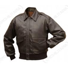 Кожаная лётная куртка Mil-Tec A2 brown