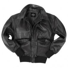 Кожаная лётная куртка Mil-Tec A2 black