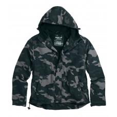 """Куртка анорак """"SURPLUS ZIPPER WINDBREAKER"""" Black camo"""