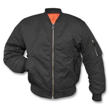 """Военная лётная куртка Mil-Tec """"MA1"""" Black"""