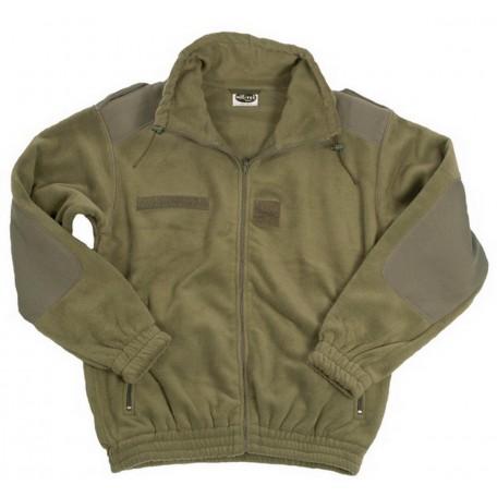 Французская милитаризированная флисовая куртка F2 olive