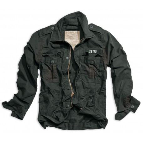 "Куртка винтажная ""SURPLUS HERITAGE VINTAGE JACKET"" Washed Black"