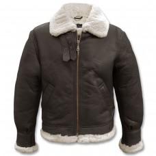 Куртка лётная кожаная американская Mil-Tec B3