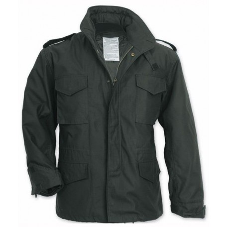 """Куртка полевая демисезонная черная Mil-Tec """"M65 Teesar"""" (TR) - Black"""