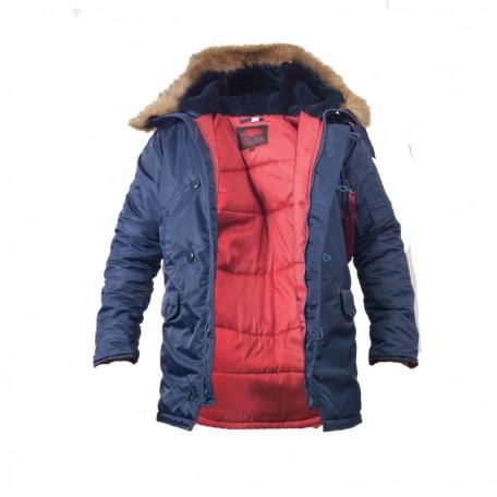 Куртка зимняя slim fit аляска n-3b Blue