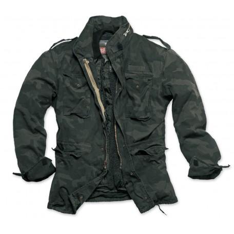 Тактическая куртка со съемной подкладкой SURPLUS REGIMENT M 65 JACKET Washed black camo