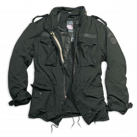 Тактическая куртка со съемной подкладкой SURPLUS REGIMENT M 65 JACKET washed black
