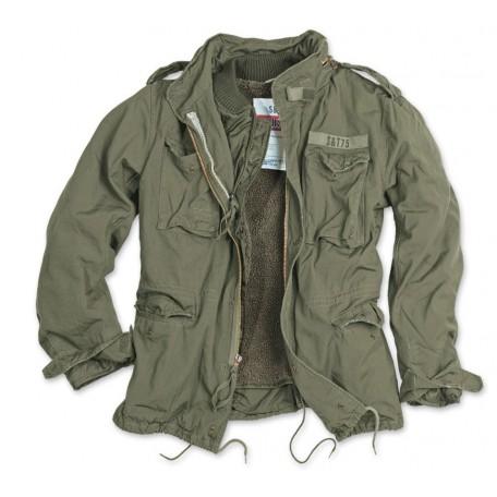Тактическая куртка со съемной подкладкой SURPLUS REGIMENT M 65 JACKET washed olive