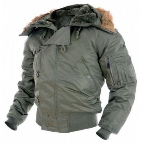 """Куртка зимняя лётная N2B """"Аляска"""" оливковая"""