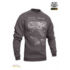 "Свитшот зимний ""WS- AK47"" (Winter Sweatshirt AK-47 Rifle Legend)"