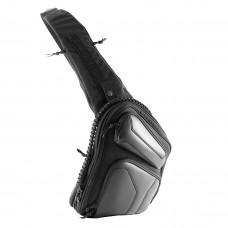 "Оперативная тактическая сумка ""9Tactical Sling SQB ECO Leather Black Stripes Octagon"""