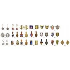 Коллекционный набор оригинальных военных знаков армии Франции
