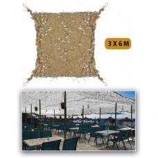 Маскировочная сетка Пустыня ′SHADE SAIL′ 3х6м
