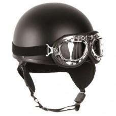 Мотошлем с очками (черный)