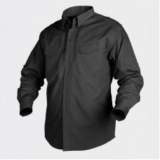 Сорочка Helikon Defender з д/рукавом - Canvas (200г/м) Black